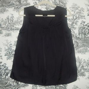 Talbot's Black Gathered Bodice Blouse Size M